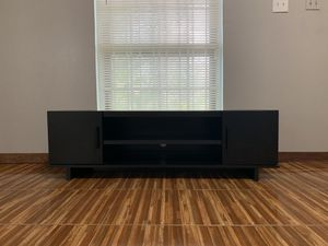 TV Stand Black Oak Color for Sale in Houston, TX