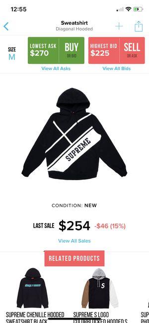 Supreme diagonal hoodie sz M for Sale in Germantown, MD