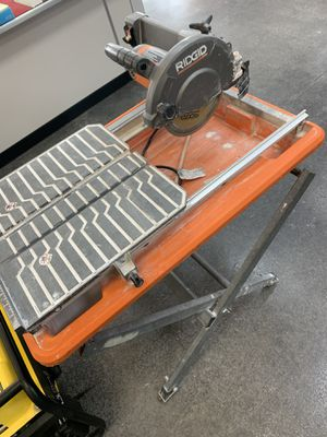 RIDGID wet table saw 7in for Sale in Pflugerville, TX
