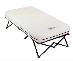 Coleman Twin Airbed Folding Cot with Side Table and 4D Battery Pump A1-16 for Sale in St. Louis, MO