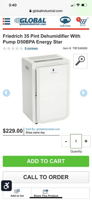 Dehumidifier used once for Sale in Poinciana, FL