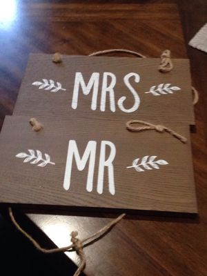 Mr and Mrs wedding signs for Sale in Castro Valley, CA
