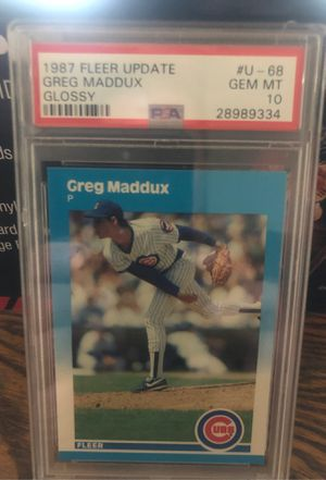 1987 Fleer Glossy Greg Maddux Rookie PSA 10. Baseball card for Sale in St. Louis, MO