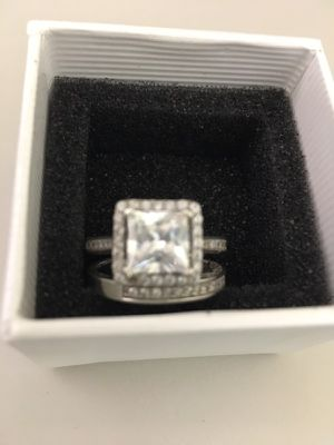 Size 6-7 sterling silver two band wedding ring for Sale in Nashville, TN