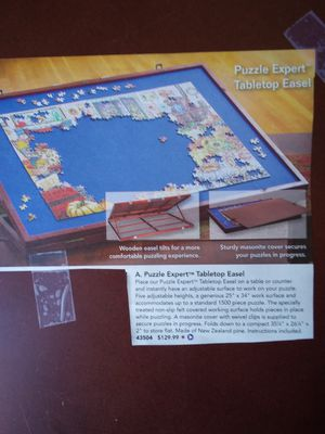 Easel puzzle board, Card table for Sale in Haines City, FL