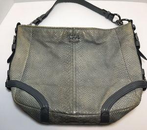 Vintage Coach snakeskin hobo bag in grey for Sale in Kirkland, WA