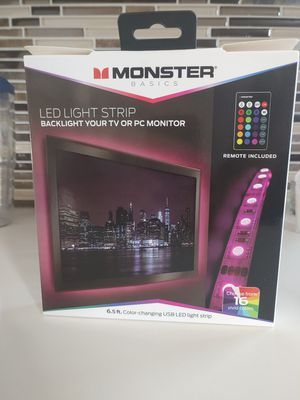 Led Light Strip Multi Colored 6.5ft remote controlled for Sale in San Diego, CA