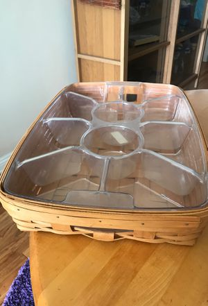 Longaberger hostess serving tray basket with 2 liners for Sale in Los Angeles, CA