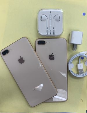 apple iphone 8 plus, 64 gb unlocked with store warranty and receipt for Sale in Medford, MA