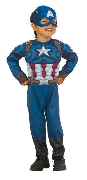 Rubies Captain America Toddler Halloween Costume Clothing Size: 3T-4T for Sale in Houston, TX