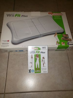 Nintendo Wii Fit balance board + Game for Sale in Anaheim, CA