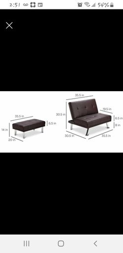 Single futon &Footstool for Sale in Warren,  MI