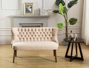 New! Beige Fabric Tufted Bench + FREE DELIVERY!! for Sale in Columbia, MD