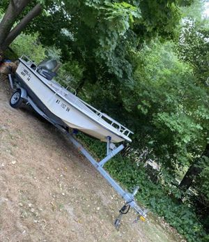 Boat 14ft Carolina skiff (no motor) trailer included for Sale in Mansfield, MA