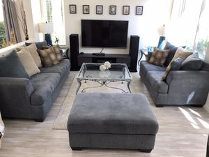 Ashley sofa with Beautiful coffee table and 2 end tables for Sale in San Diego, CA