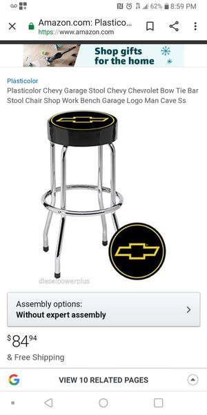 Chevy Bar Stool/Garage Stool for Sale in Southgate, MI