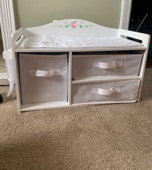 Baby doll changing table for Sale in East Islip, NY