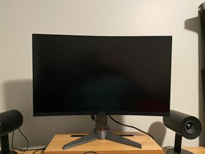 "MSI Full HD Gaming Red LED Non-Glare Super Narrow Bezel 1ms 2560 x 1440 144Hz Refresh Rate 2K Resolution FreeSync 27"" Curved Gaming Monitor (Optix MA for Sale in Billerica, MA"