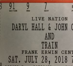 Train with Daryl Hall & John Oates Tickets for Sale in Austin, TX