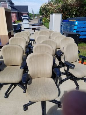 15 office/conference room chairs. Conference Room Tables and Furniture also available for Sale in Arlington, TX