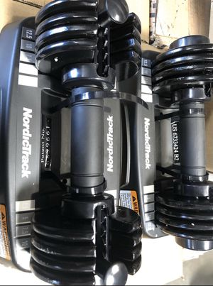 NordicTrack adjustable 5-25 lbs dumbbells set powerblock weights for Sale in Phoenix, AZ