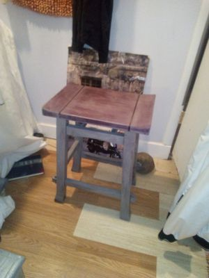 Cranberry feux bar stool for Sale in Chandler, AZ