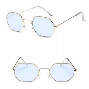 Blue Lens Gold Frame Hexagon Sunglasses for Sale in Modesto, CA