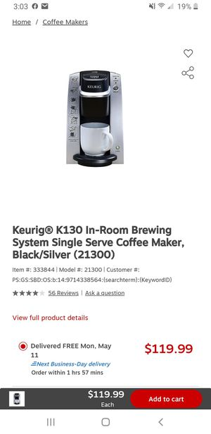 Keurig compacted single cup. for Sale in Columbus, OH