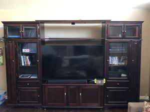 MUST SELL SOON- ENTERTAINMENT CENTER AND MEDIA CENTER for Sale in HUNTINGTN BCH, CA