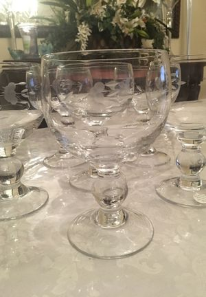 6 princess house grande glasses for Sale in Cerritos, CA