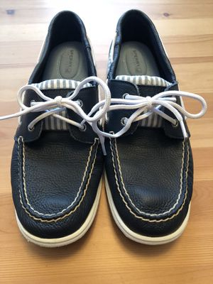 Sperry Women's Navy Leather Boat Shoe for Sale in Alexandria, VA