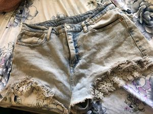 Size 14 High rise jean shorts for Sale in Fresno, CA