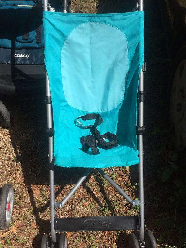 Blue umbrella stroller