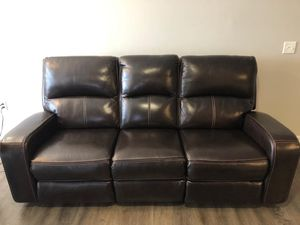 3-seat leather power recliner couch for Sale in Columbia, SC