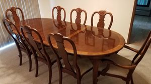 Quality dining table and 8 chairs for Sale in Tumwater, WA