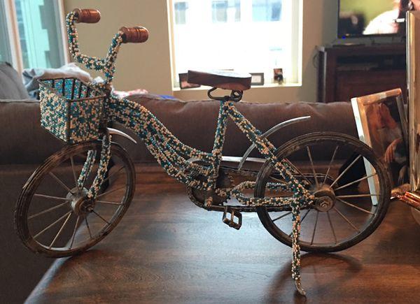 Adorable bike home decor item!