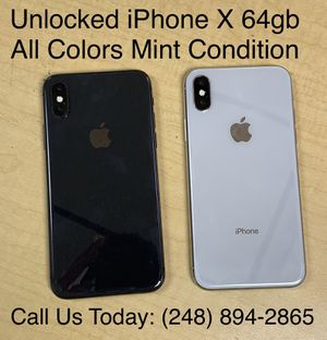 SALE: Unlocked iPhone X 64gb Used All Colors Excellent Condition for Sale in Pleasant Ridge, MI