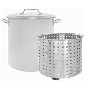 New 24QT Stainless Steel Stock Pot with Steamer Basket/Olla De 24QT Con Colador De Acero Inoxidable for Sale in Chino, CA