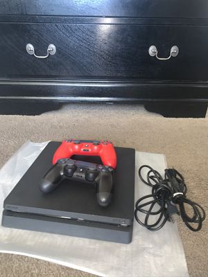 PS4 SLIM WITH HDMI CABLE AND BRAND NEW RED CONTROLLER for Sale in San Diego, CA
