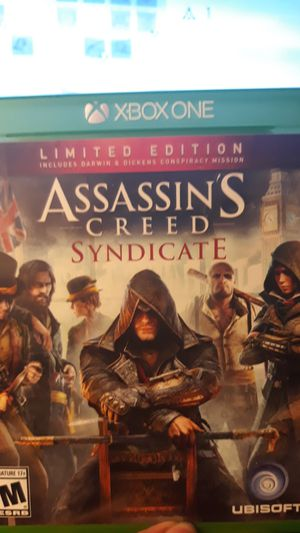Xbox one Assassins creed syndicate for Sale in Indianapolis, IN