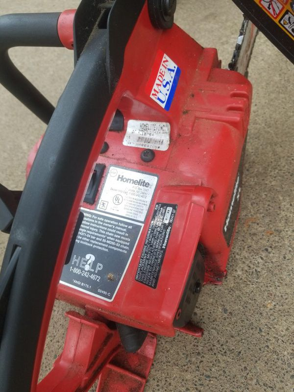 """Homlite Chainsaws With 16"""" Bar And Case."""
