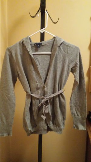 Size 12 belted hoodie cardigan for Sale in Pittsburgh, PA