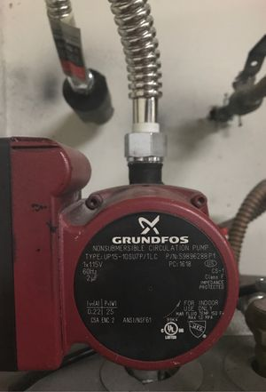 GRUNDFOS non-submersible circulation pump for hot water heater for Sale in Fort Lauderdale, FL