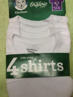 Gerber organic cotton side snap Shirts for Sale in Morrisville,  PA