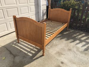 Pottery Barn Catalina twin size bed frame for Sale in Mather, CA