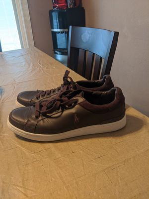 POLO RALPH LAUREN DARK BROWN LEATHER MEN SHOES SIZE 10 for Sale in Fort Worth, TX