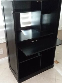 Black Wood Desk Cabinet With Key Board Drawer for Sale in San Dimas,  CA