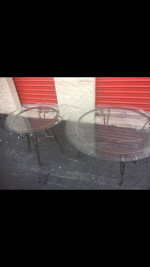 Glass top coffee and end table for Sale in Denver, CO