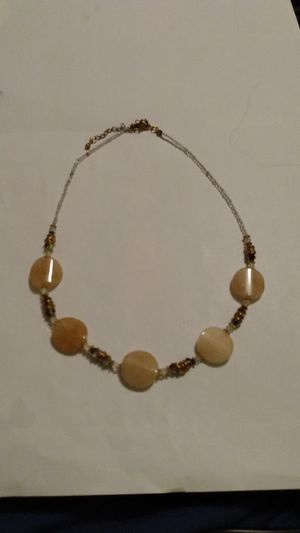 Amber and beaded charm necklace for Sale in San Antonio, TX