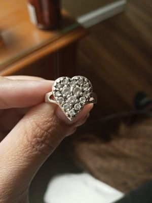 925 mex Diamond Heart Ring for Sale in Riverside, CA